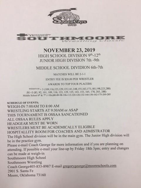 2019.11.23 Southmoore Tournament